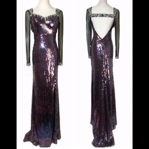 Dresses & Skirts - 🔥SALE🔥 NEW W/Tags Purple Sequin formal